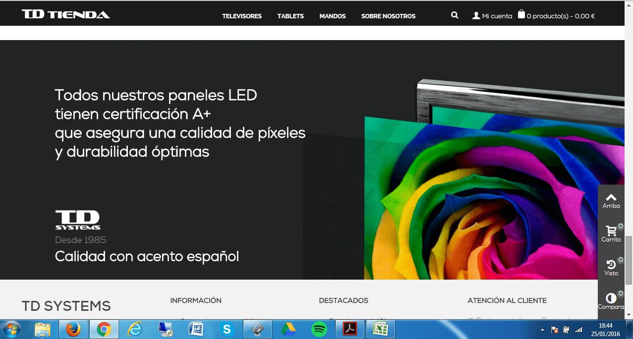 Textos_web_TDTienda. TDTienda: relanzamiento de marca y tienda. Copy, redacción y lemas.